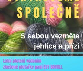 Letní pletení pod vedením zkušené pletařky Evy Bovoli. informace na oddělení naučné literatury