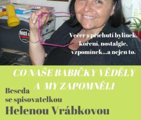 Beseda se spisovatelkou Helenou Vrábkovou