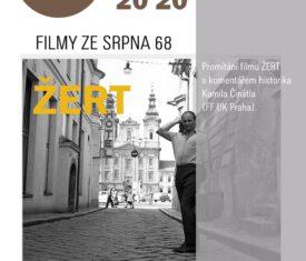 Promítání filmu ŽERT. Komentuje Kamil Činátl. (FF UK Praha) venkovní scéna