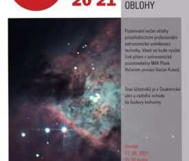 Pozorování noční oblohy prostřednictvím profesionální astronomické snímkovací techniky probíhá z výukové terasy na střeše knihovny. Večerem provází hvězdář Václav Kubeš. Sraz účastníků je v Soukenické ulici u zadního vchodu do budovy knihovny.